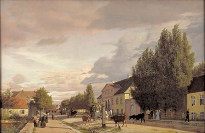 Christen Købke (1810-48), 'Morning View of Østerbro', 1836. KMS844