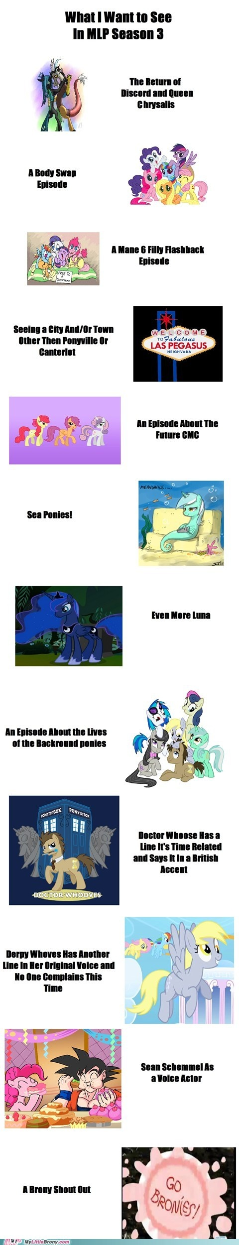 my little pony, friendship is magic, brony - Season 3 Predictions