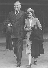 Robert and wife Pattie Menzies in the 1940s