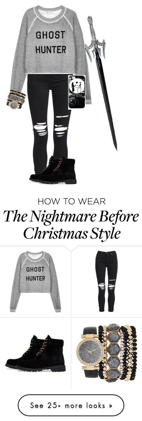 """""""Daughter of Hades"""" by olivia244sage on Polyvore featuring AMIRI, Wildfox, Timberland and Jessica Carlyle"""