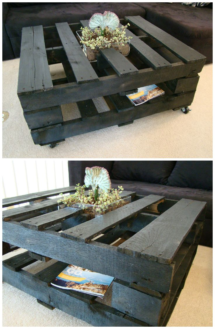 Coffee Table With Inside Planter #CoffeeTable, #Planter, #RecycledPallet