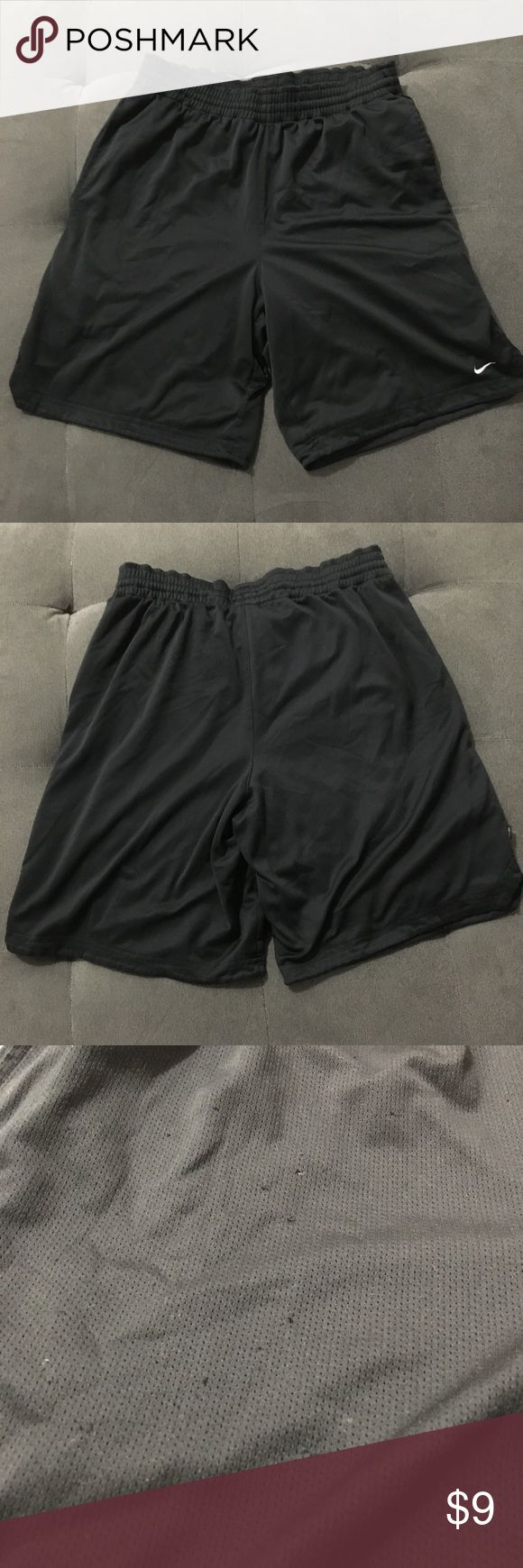 Nike dri-fit men's shorts Nike dri-fit men's shorts  Size M  Good pre-loved condition. See pic of snags  Bundle fav items for personal discount. Offers are always welcome, too! No trades. Thank you! (4) Nike Shorts Athletic