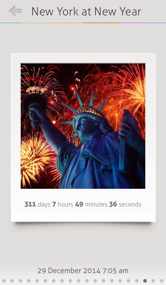 New York Holiday Countdown timer