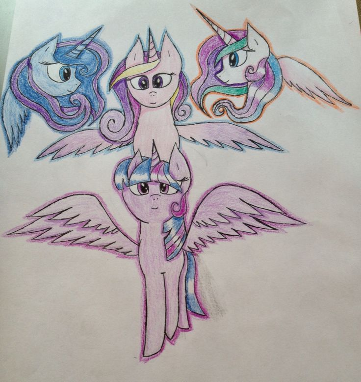My Little Pony Princesses Ready and colored. 29.8.2015