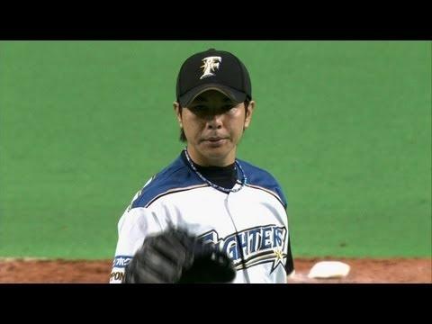ミット位置へピタリ!武田勝の制球勝ちで三球三振 2012.10.18 F-H