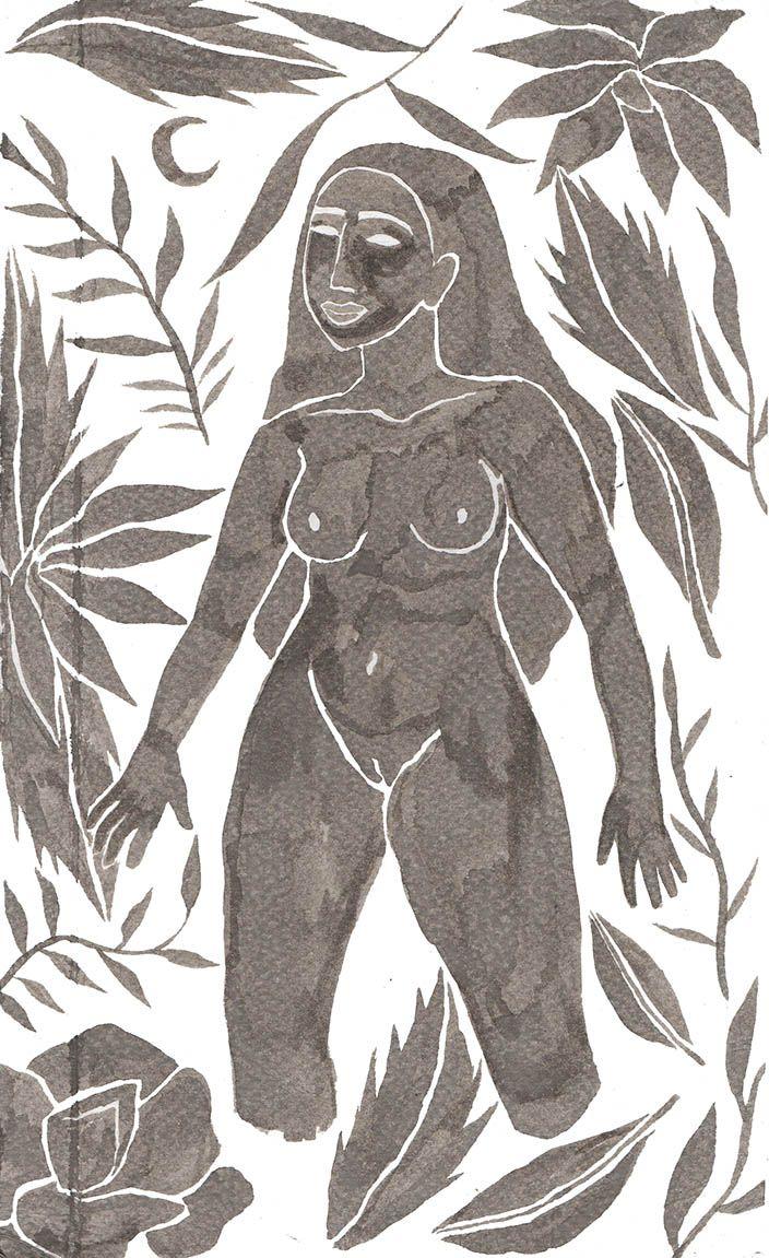 Jungle illustration by Hanako Mimiko