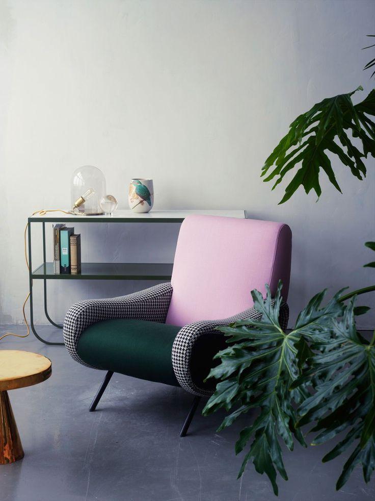 minimalistic retro interior