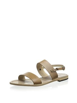 60% OFF Modern Fiction Women's Double Band Sandal with Halter (Khaki)
