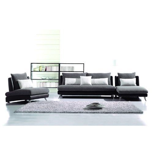 Angelina Contemporary 3-Piece Sofa Set by ENITIAL LAB. $2276.99. Angelina Contemporary 3-Piece Sofa Set. The modern tailored Valleto three piece set is beautifully upholstered in a fabric body, with leatherette upholstery that blends nicely with any modern dcor. Set Includes: One two-seater sofa One chaise One armless chair The set is nicely crafted in hardwood frame, and features a tight, clean upholstery, composed in plush seat cushion wrapped in high quality fo...