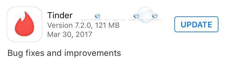 Tinder Update - 7.2.0 March 30 2017  #tinder #tinderupdate