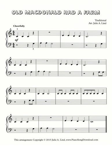 28 best info music images on pinterest guitar classes guitar old macdonald had a farm free piano sheet music to print includes a youtube fandeluxe Images