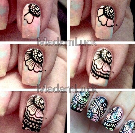 Flower nails DIY