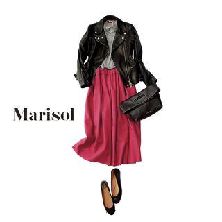 グリーン×ベージュの高感度配色でいつものコーデからマンネリ打破をMarisol ONLINE|女っぷり上々!40代をもっとキレイに。