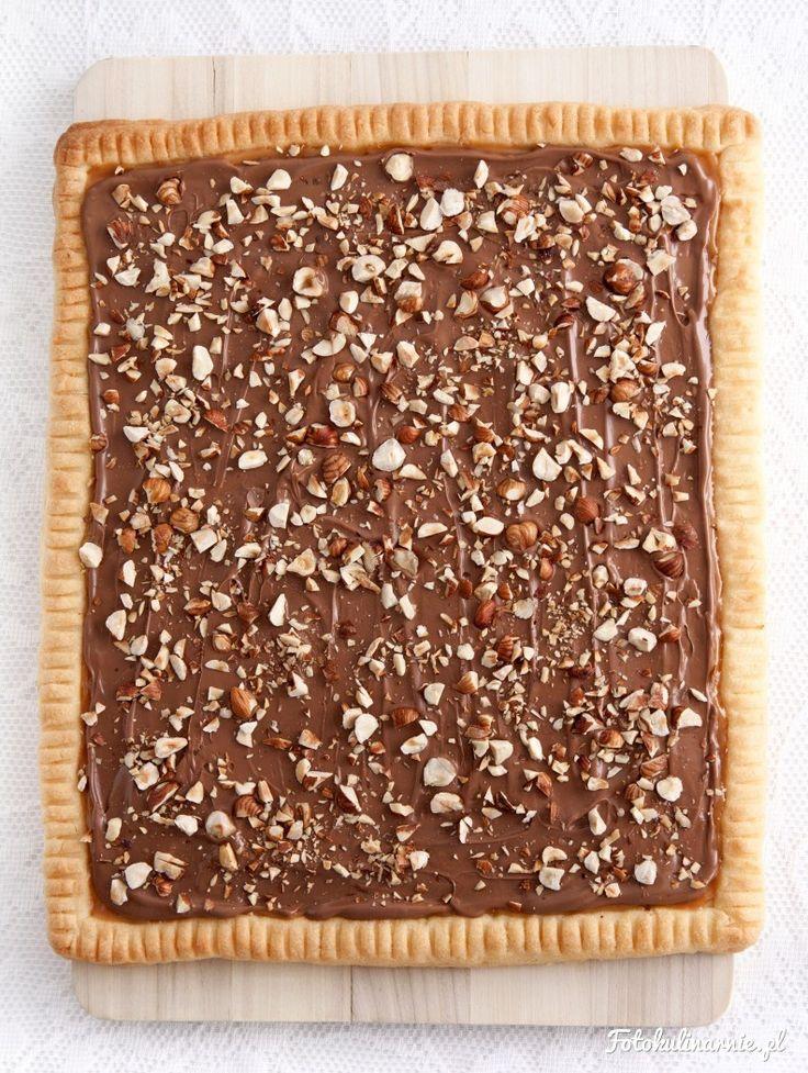 Mazurek kajmakowo-czekoladowy z orzechami