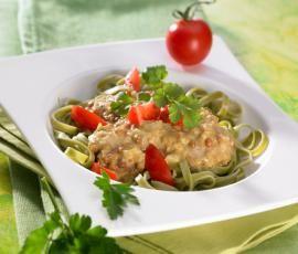 Recept Zelené nudle s kari čočkou od Vorwerk vývoj receptů - Recept z kategorie Hlavní jídla - vegetariánská