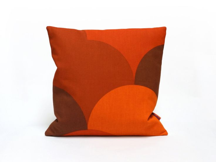 Red Mid Centruy Cushion Cover | Trow Pillow | Retro Couch Pillow | Designeru2026