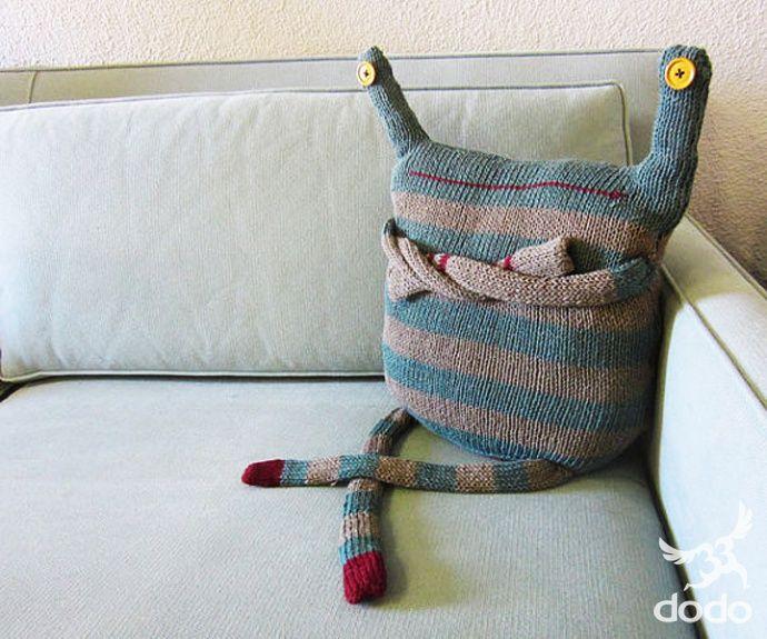 Naaien: Knuffels & Knuffelkussens ~DIY Monster~ <3 LOL!