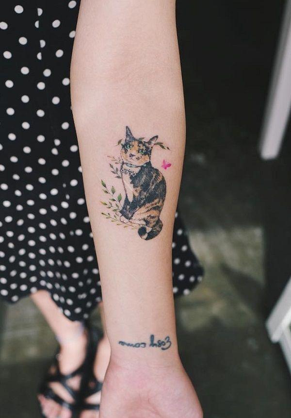 548d505c546c9 100+ Examples of Cute Cat Tattoo | My baby | Cute cat tattoo, Cat ...