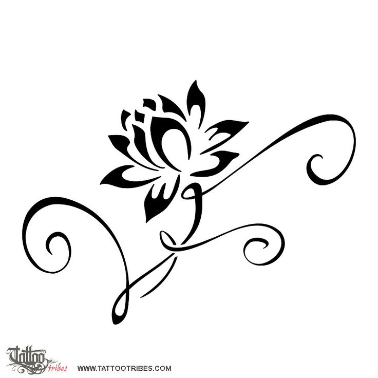 TATTOO TRIBES - Shape your dreams, Tattoos and their meaning - lotus flower, water lily, perfection, union, overcoming difficulties, pureness