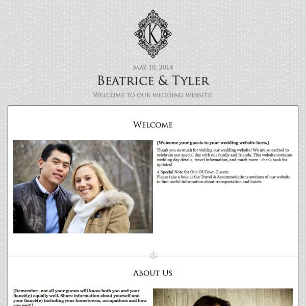 Clic Wedding Website Design Black Tie By Weddingwire