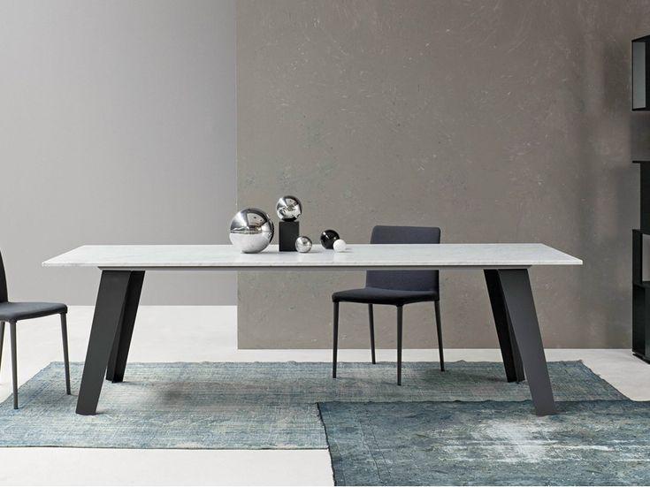 TABLE RECTANGULAIRE EN MARBRE WELDED BY BONALDO | DESIGN ALAIN GILLES