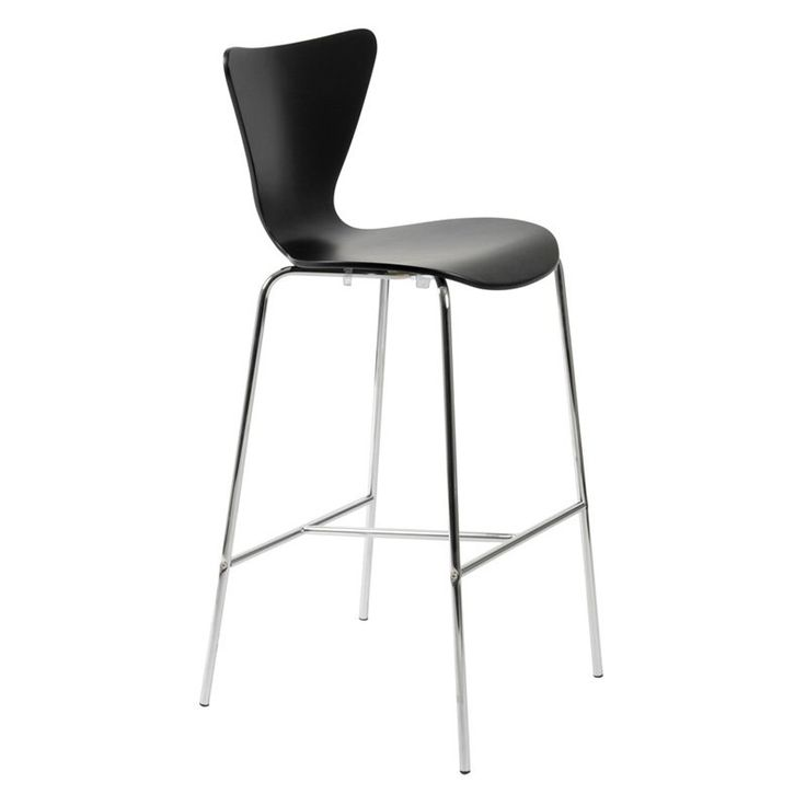 Euro Style Tendy Bar Stool - Black - Set of 2 - Bar Stools at Hayneedle