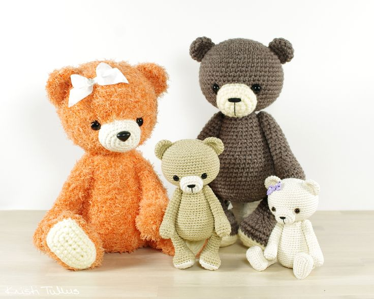 Amigurumi Teddy Bear Free Patterns : 878 best amigurumi bear ours images on pinterest amigurumi