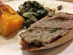 Venison Liver Pate.   Found this recipe I hope the link takes you to the recipe...  http://www.thekitchenwitchblog.com/2011/10/07/deer-liver-pate/