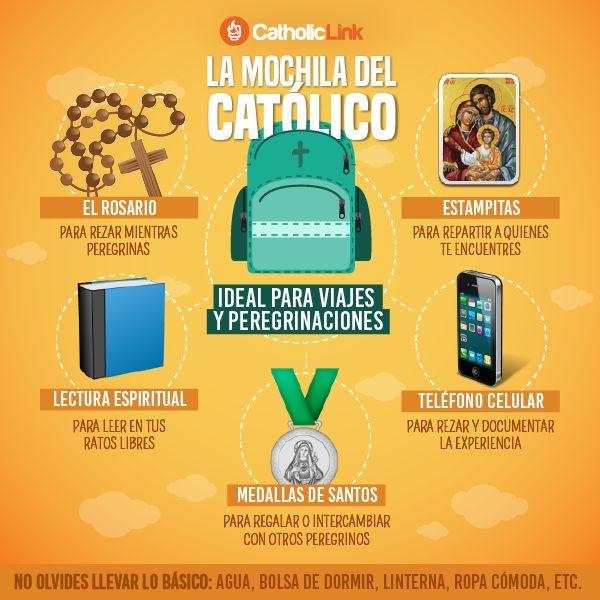 Infografía: Artículos que todo católico debe llevar en su mochila durante una…