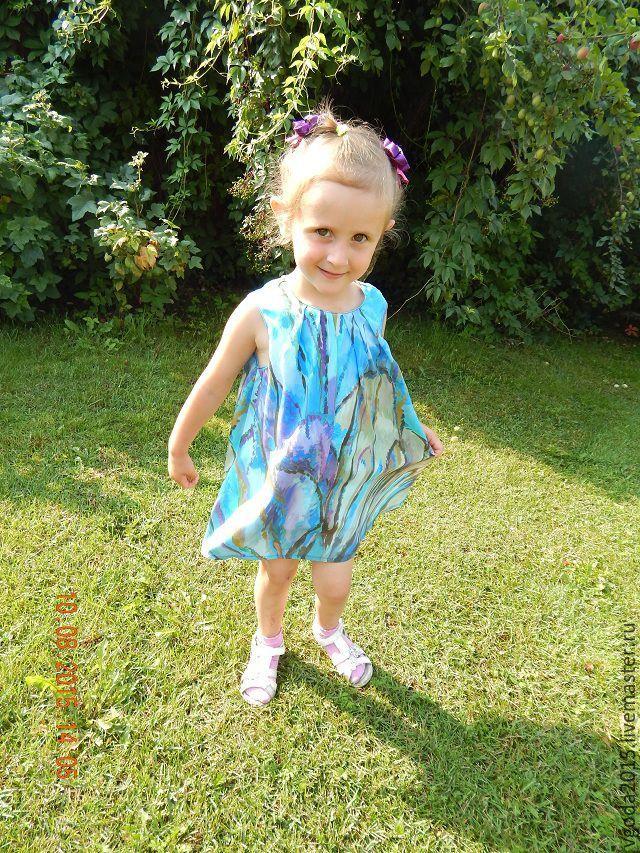 Купить или заказать Платье детское в интернет-магазине на Ярмарке Мастеров. Платье детское из павловопосадского…