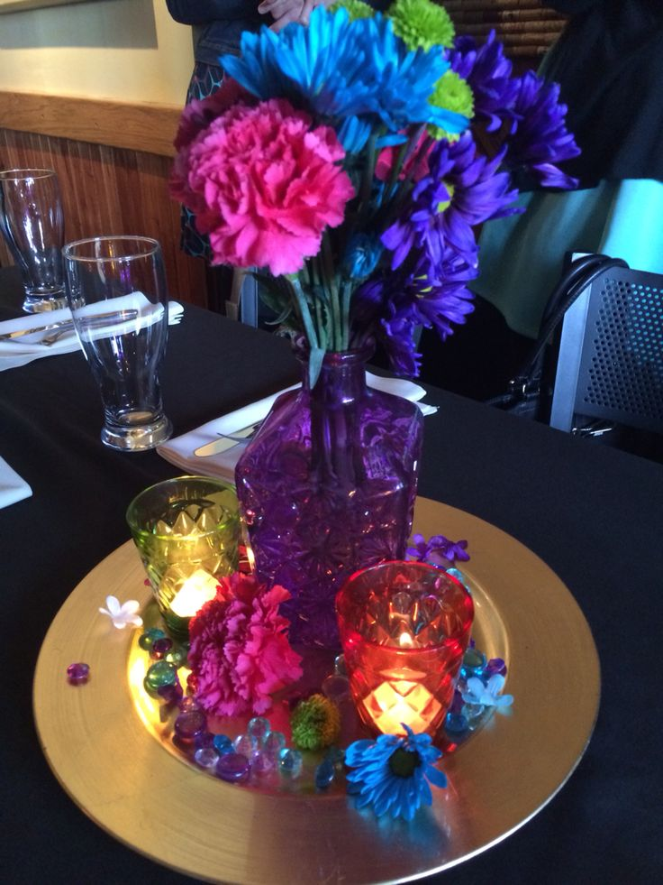 Arabian night/Moroccan theme bridal shower centerpiece by The Planning Pixi