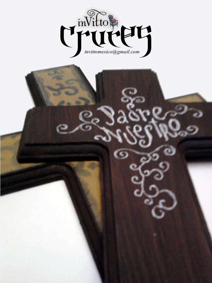 Cruces de madera cruces pinterest craft for Pintura para madera