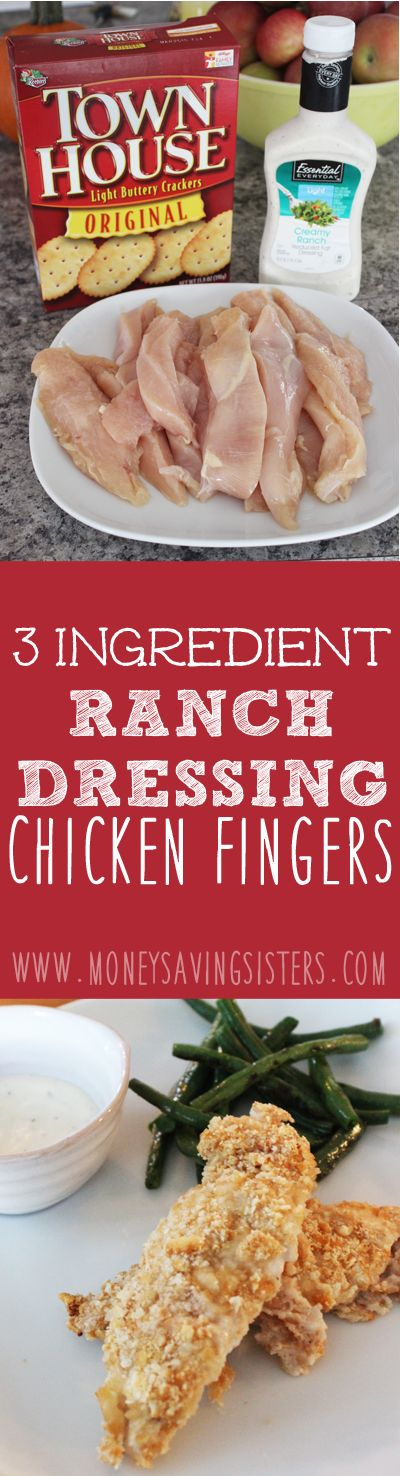 Easy chicken finger recipe to make today! Makes a great Superbowl snack for the kids!