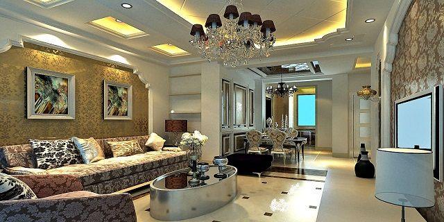 American classic living room design