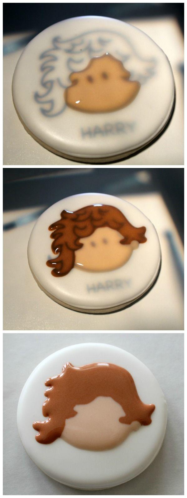 One Direction Cookies and a Printable Kopykake Template