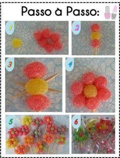 flor de bala de goma