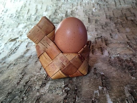 Easter Egg basket Easter Egg Holder Handwoven by BirchBirds