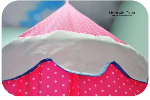 Tutorial: Children's Play Tent from bed sheets & hula hoop