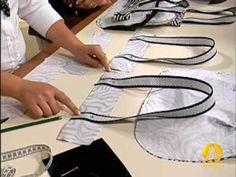 video of sewing bags