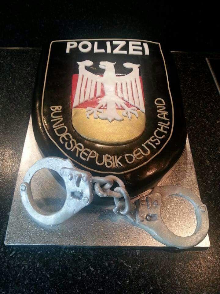 Polizei Torte....leider mit einem.kleinen Schreibfehler