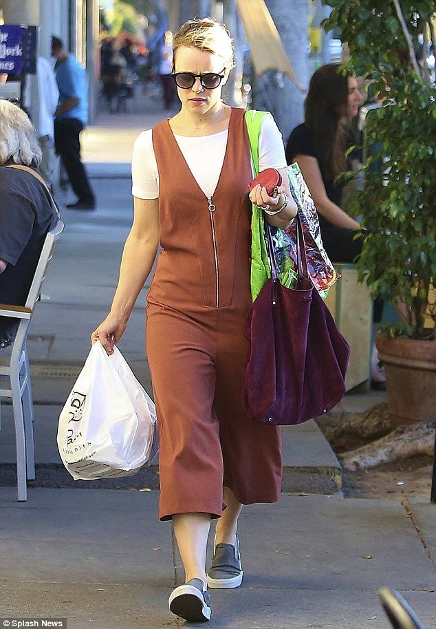 Copy Rachel's style in a quirky culotte jumpsuit. Click 'Visit' to buy now.  #DailyMail