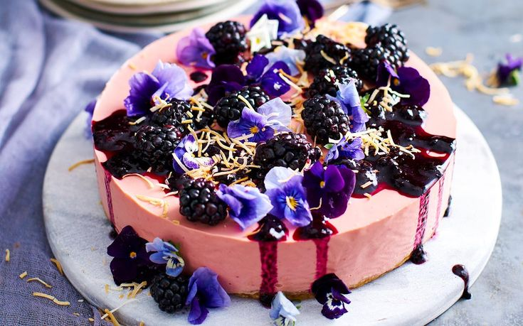 This gorgeous no bake cheesecake recipe from The Australian Women's Weekly's Eat Well Live Well cookbook uses cottage cheese, lemons, blackberries and coconut sugar - yum!
