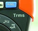 Familia HT320 Detalle multímetro profesional con verdadero valor eficaz TRMS