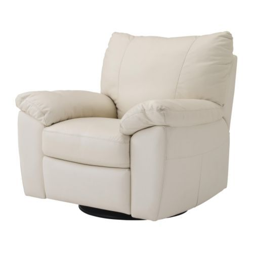 VRETA Swivel/reclining/armchair - Mjuk ivory - IKEA. Yet another compromise between recliner comfort and style.