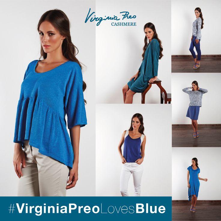 #VirginiaPreoLovesBlue #SS15 #Fashion #Cashmere http://www.virginiapreo.com/ss-15/