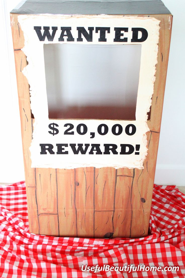 DIY Cowboy Photo Booth from a Wardrobe Box | Useful Beautiful Home