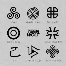 Imagini pentru teen wolf symbol