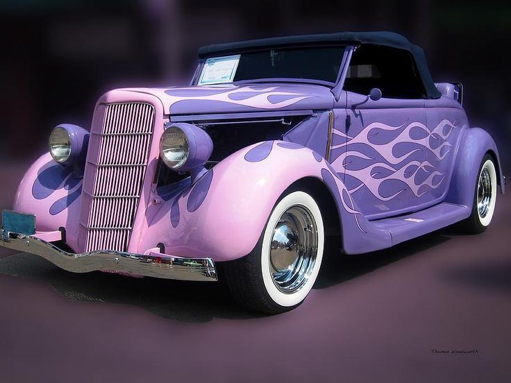 Purple 1935 Hot Rod Car Photograph  - Purple 1935 Hot Rod Car Fine Art Print