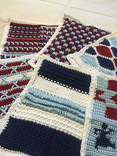 I have already made this afghan to use for teaching, but I found it difficult to use as a whole. So I am crocheting each block again but will not combine them, so I can handle each block individual...