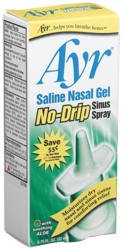 http://snoringsolutionsforever.com/pinnable-post/ayr-saline-nasal-gel-no-drip-sinus-spray-with-soothing-aloe-vera-0-75-ounce-spray-bottles-pack-of-3 Ayr Saline Nasal Gel No-Drip Sinus Spray helps relieve dry nasal passages due to colds, allergies, sinusitis, air pollution, smoke and low humidity. Specially formulated with natural ingredients, Ayr Saline Nasal Gel No-Drip Sinus Spray delivers deeper penetration of the same moisturizing properties ...